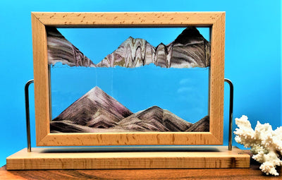 Picture of KB Collection Window Canyon Sand Art with coral- By Klaus Bosch sold by MovingSandArt.com