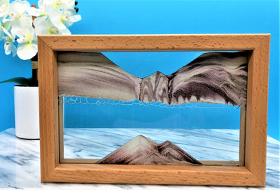 Picture of KB Collection Horizon Canyon Sand Art with flowers- By Klaus Bosch sold by MovingSandArt.com
