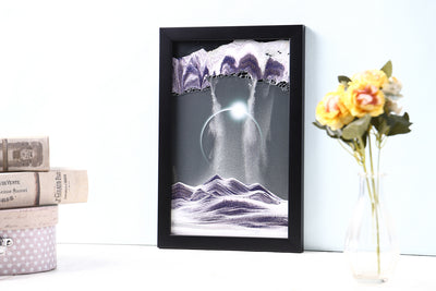 Picture of KB Collection Movie Series Wall Mount Diamond Ring Sand Art vertical with flowers- By Klaus Bosch sold by MovingSandArt.com