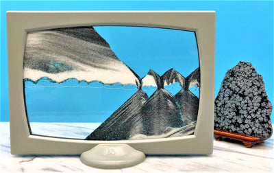 Picture of KB Collection Screenie Grey Sand Art with rock- By Klaus Bosch sold by MovingSandArt.com
