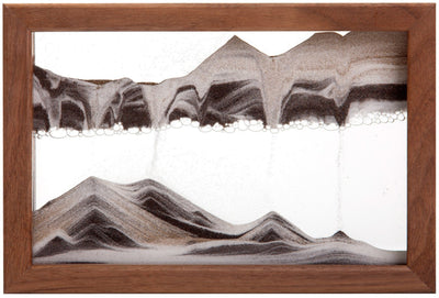 Picture of Horizon Walnut Sand Art- By Klaus Bosch Sold By MovingSandArt.com