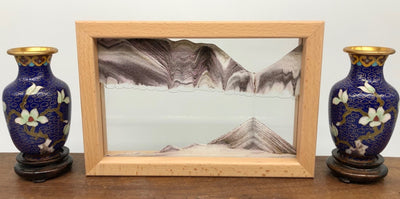 Picture of KB Collection Horizon Canyon Sand Art with vases- By Klaus Bosch sold by MovingSandArt.com