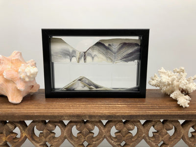 Picture of KB Collection Horizon Black Sand Art with shells- By Klaus Bosch sold by MovingSandArt.com