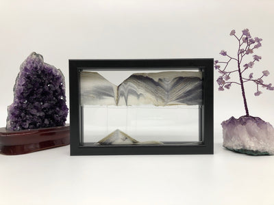 Picture of KB Collection Horizon Black Sand Art with amethyst- By Klaus Bosch sold by MovingSandArt.com