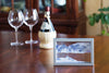 Picture of KB Collection Horizon Silver Sand Art in dining room with wine- By Klaus Bosch sold by MovingSandArt.com