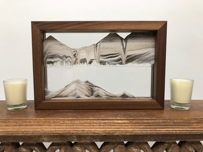 Horizon Walnut Moving Sand Art- By Klaus Bosch