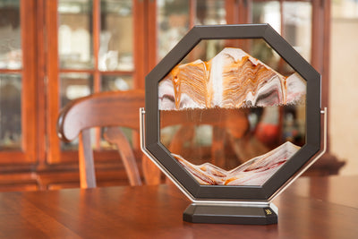 Picture of KB Collection Masterpiece Series Octarine Sand Art living room- By Klaus Bosch sold by MovingSandArt.com