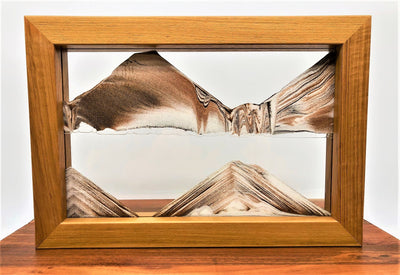 Tribe Pygmy Moving Sand Art- Teakwood frame- By Klaus Bosch