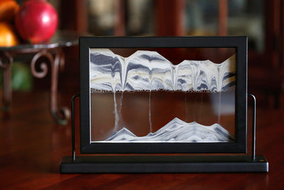 Picture of Window Black Sand Art- By Klaus Bosch Sold By MovingSandArt.com