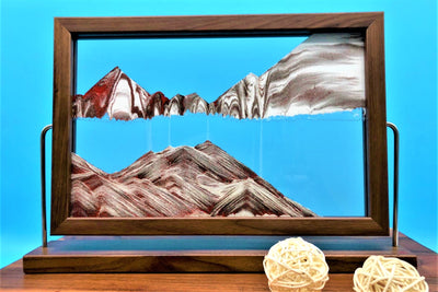 Picture of KB Collection Landscape Walnut Sand Art with balls- By Klaus Bosch sold by MovingSandArt.com