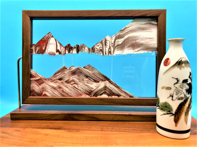 Picture of KB Collection Landscape Walunt Sand Art with vase- By Klaus Bosch sold by MovingSandArt.com
