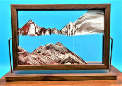 Picture of KB Collection Landscape Walnut Sand Art on butcher block - By Klaus Bosch sold by MovingSandArt.com