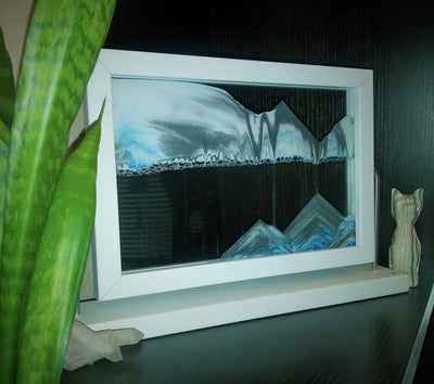 Picture of KB Collection Window Diver Sand Art with plant- By Klaus Bosch sold by MovingSandArt.com
