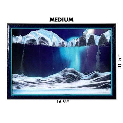 Picture of KB Collection Movie Series Wall Mount Aurora borealis Sand Art medium size- By Klaus Bosch sold by MovingSandArt.com