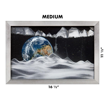 Picture of KB Collection Movie Series Wall Mount Apollo Earth Sand Art medium size- By Klaus Bosch sold by MovingSandArt.com