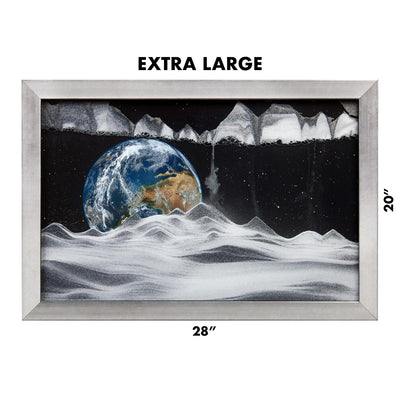 Picture of KB Collection Movie Series Wall Mount Apollo Earth Sand Art extra large size- By Klaus Bosch sold by MovingSandArt.com