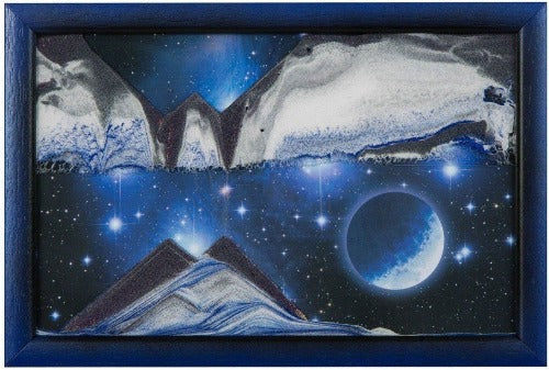 Picture of KB Collection Movie Series Wall Mount Blue Planet Sand Art- By Klaus Bosch sold by MovingSandArt.com