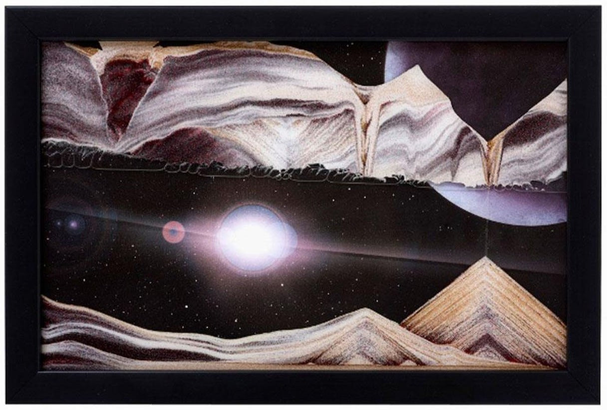 Picture of KB Collection Movie Series Wall Mount Outer Space Sand Art - By Klaus Bosch sold by MovingSandArt.com
