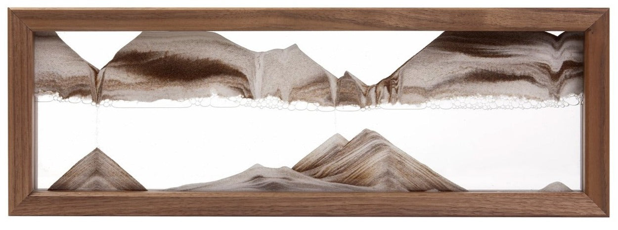 Triple-X Walnut Moving Sand Art- By Klaus Bosch