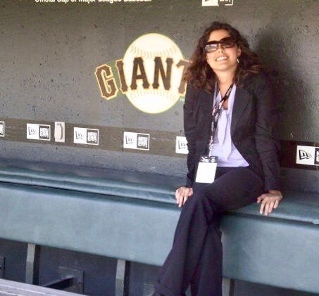 Ellen working for the San Francisco Giants