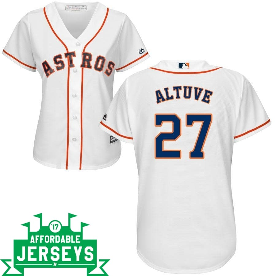 Jose Altuve Home Women's Cool Base Player Jersey - AffordableJerseys.com