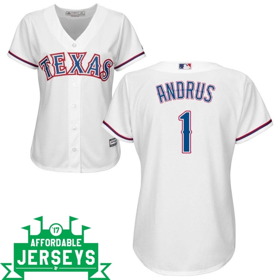 Elvis Andrus Home Women's Cool Base Player Jersey