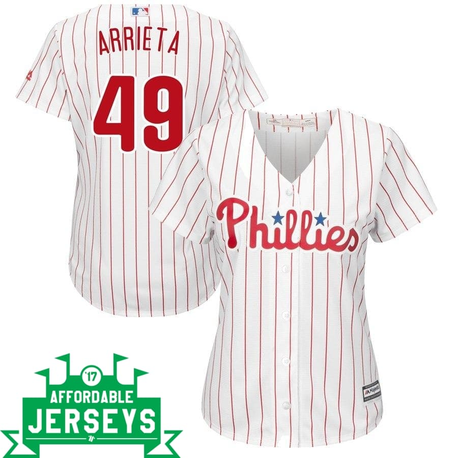 Jake Arrieta Home Women's Cool Base Player Jersey