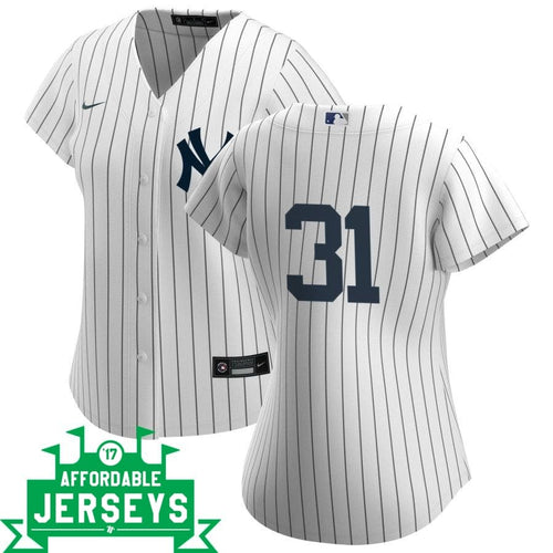 Aaron Hicks Home Women's Nike Replica Player Jersey - AffordableJerseys.com