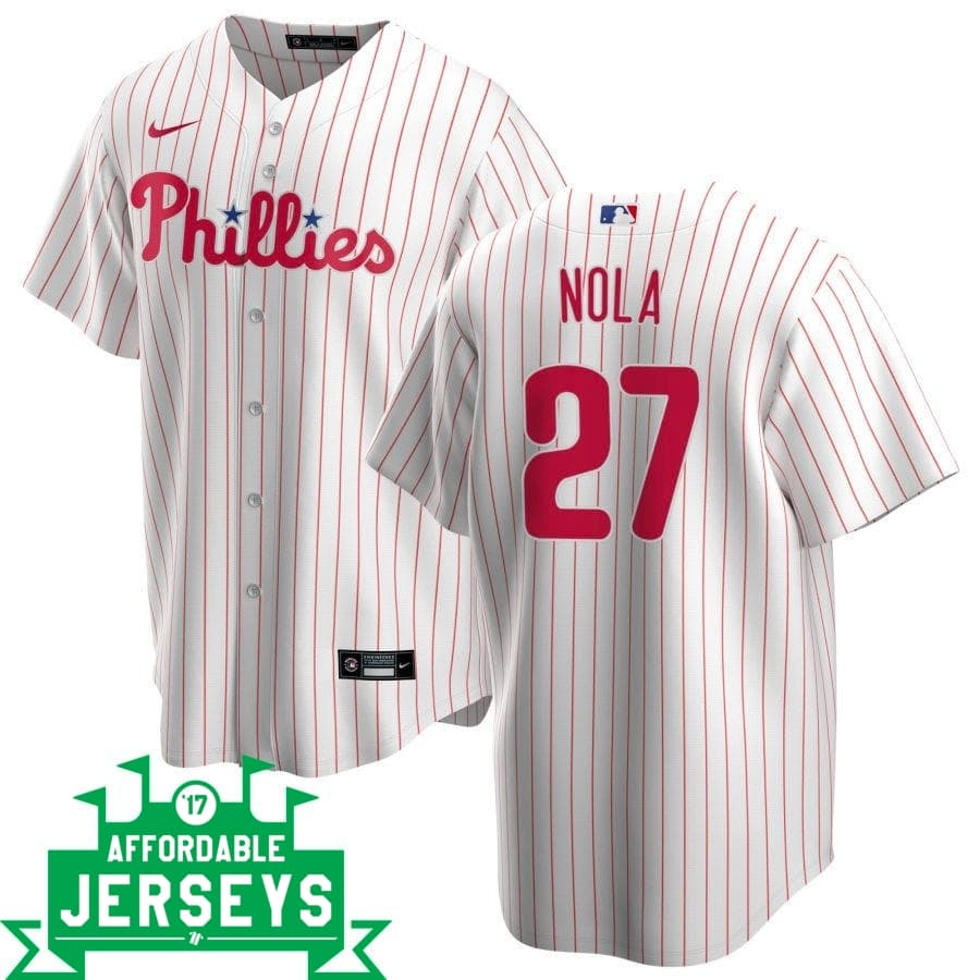 Aaron Nola Home Nike Replica Player Jersey - AffordableJerseys.com