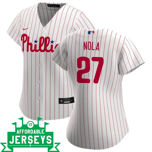 Aaron Nola Home Women's Nike Replica Player Jersey - AffordableJerseys.com