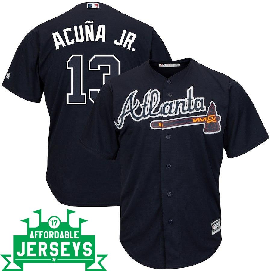 Ronald Acuña Jr. Road Cool Base Player Jersey - AffordableJerseys.com