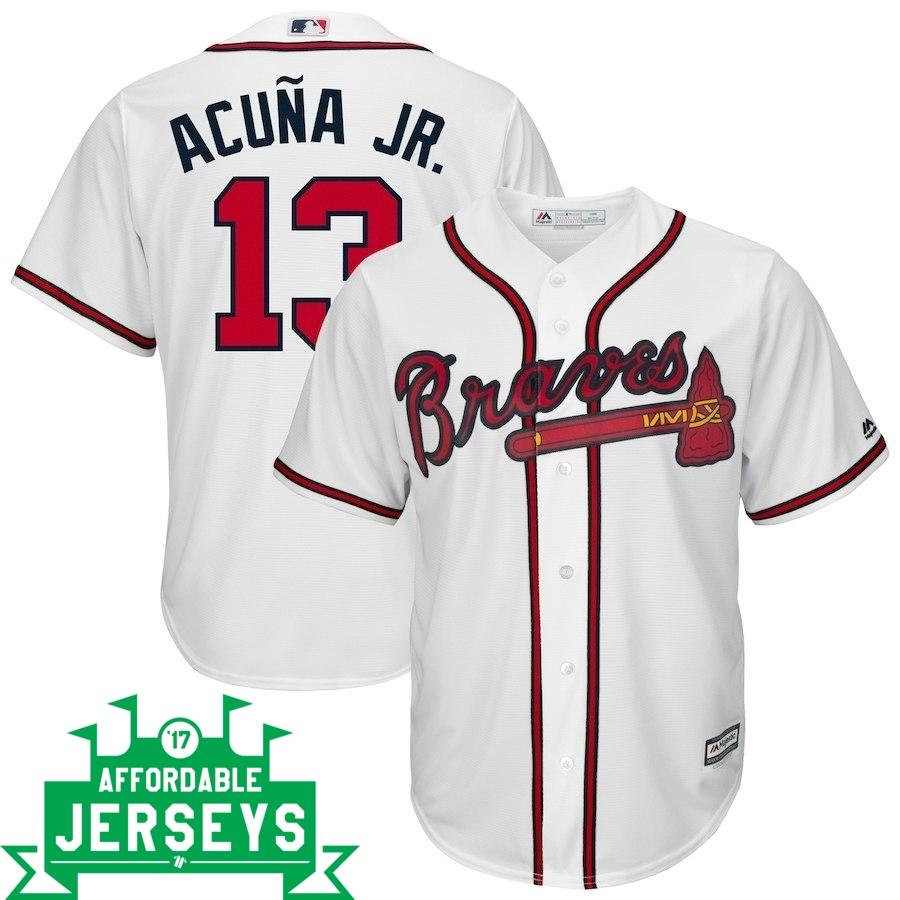 Ronald Acuña Jr. Home Cool Base Player Jersey - AffordableJerseys.com