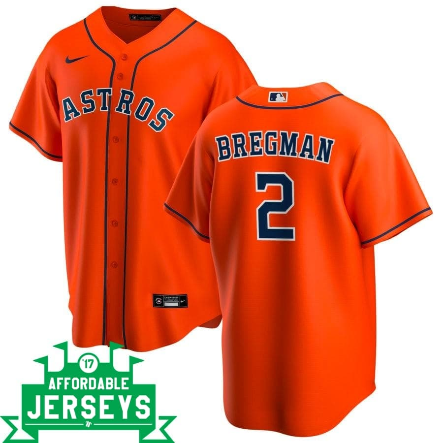 Alex Bregman Alternate Nike Replica Player Jersey - AffordableJerseys.com