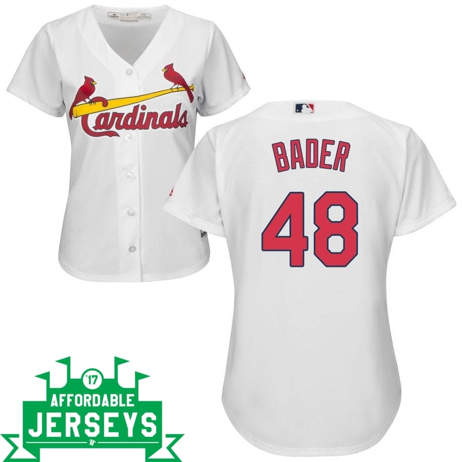 Harrison Bader Home Women's Cool Base Player Jersey - AffordableJerseys.com