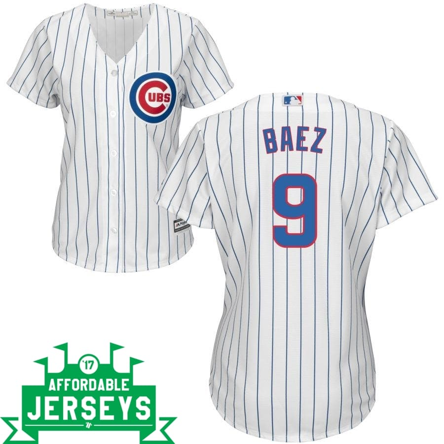 Javier Baez Home Women's Cool Base Player Jersey - AffordableJerseys.com