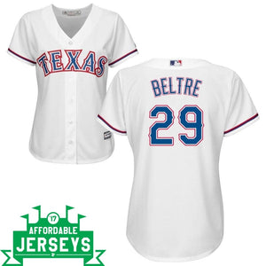Adrian Beltre Home Women's Cool Base Player Jersey - AffordableJerseys.com