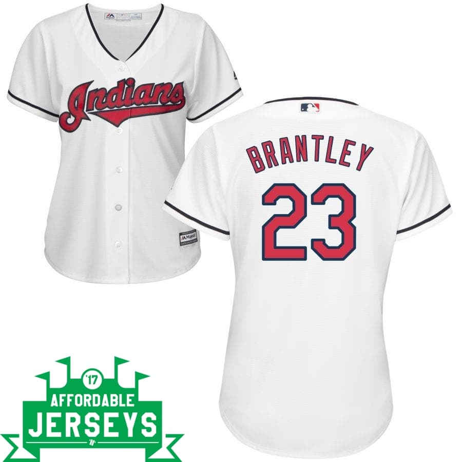 Michael Brantley Home Women's Cool Base Player Jersey - AffordableJerseys.com