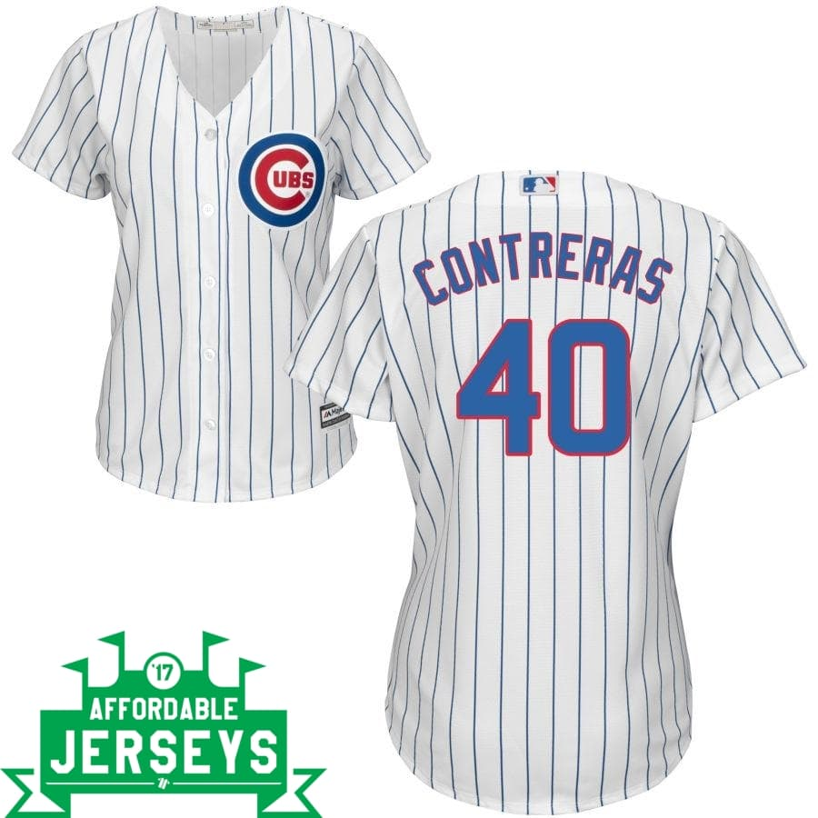 Wilson Contreras Home Women's Cool Base Player Jersey - AffordableJerseys.com