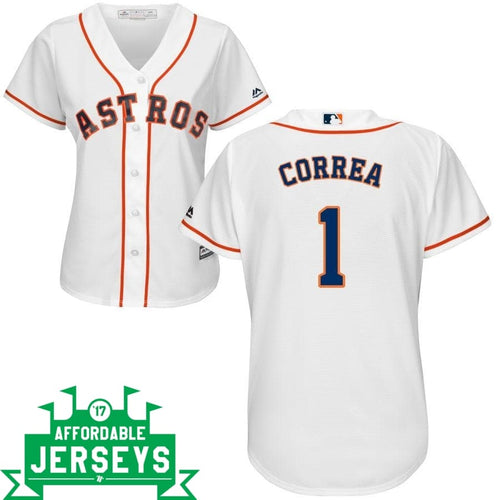 Carlos Correa Home Women's Cool Base Player Jersey - AffordableJerseys.com