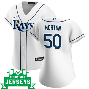 Charlie Morton Home Women's Nike Replica Player Jersey - AffordableJerseys.com