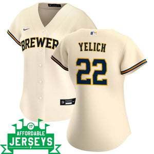 Christian Yelich Home Women's Nike Replica Player Jersey - AffordableJerseys.com