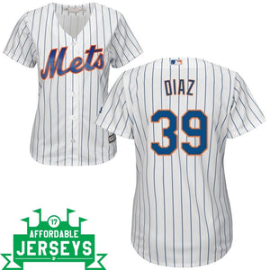 Edwin Diaz Home Women's Cool Base Player Jersey - AffordableJerseys.com