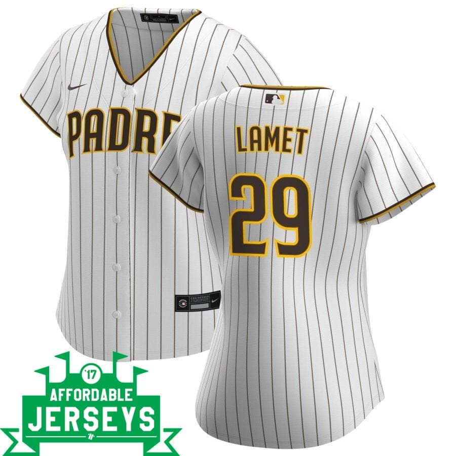 Dinelson Lamet Home Women's Nike Replica Player Jersey - AffordableJerseys.com