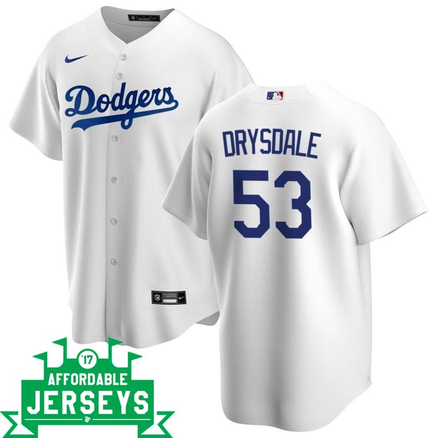 Don Drysdale Home Nike Replica Player Jersey