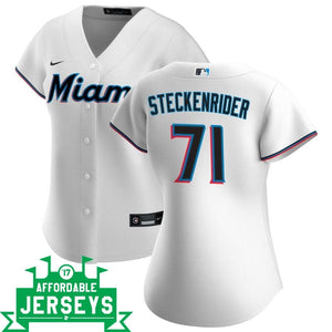 Drew Steckenrider Home Women's Nike Replica Player Jersey - AffordableJerseys.com