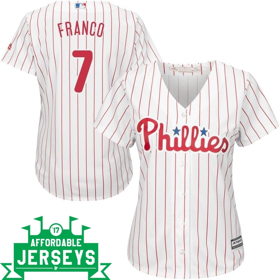 Maikel Franco Home Women's Cool Base Player Jersey - AffordableJerseys.com