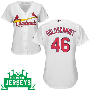 Paul Goldschmidt Home Women's Cool Base Player Jersey - AffordableJerseys.com