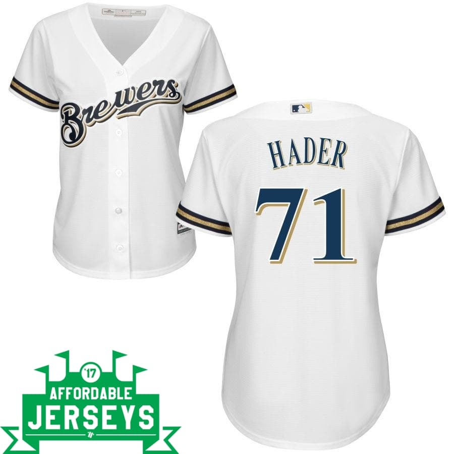 Josh Hader Home Women's Cool Base Player Jersey - AffordableJerseys.com