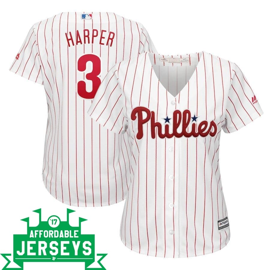 Bryce Harper Home Women's Cool Base Player Jersey