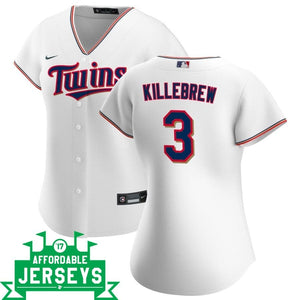 Harmon Killebrew Home Women's Nike Replica Player Jersey - AffordableJerseys.com